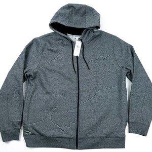 LACOSTE SPORT Men's XXL Gray Full Zip Hoodie NEW